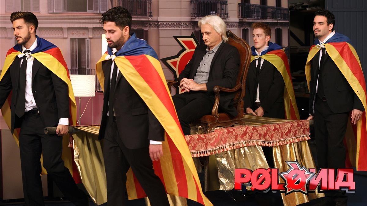 Imagen de uno de los gags del programa de sátira política de TV-3 'Polònia'.
