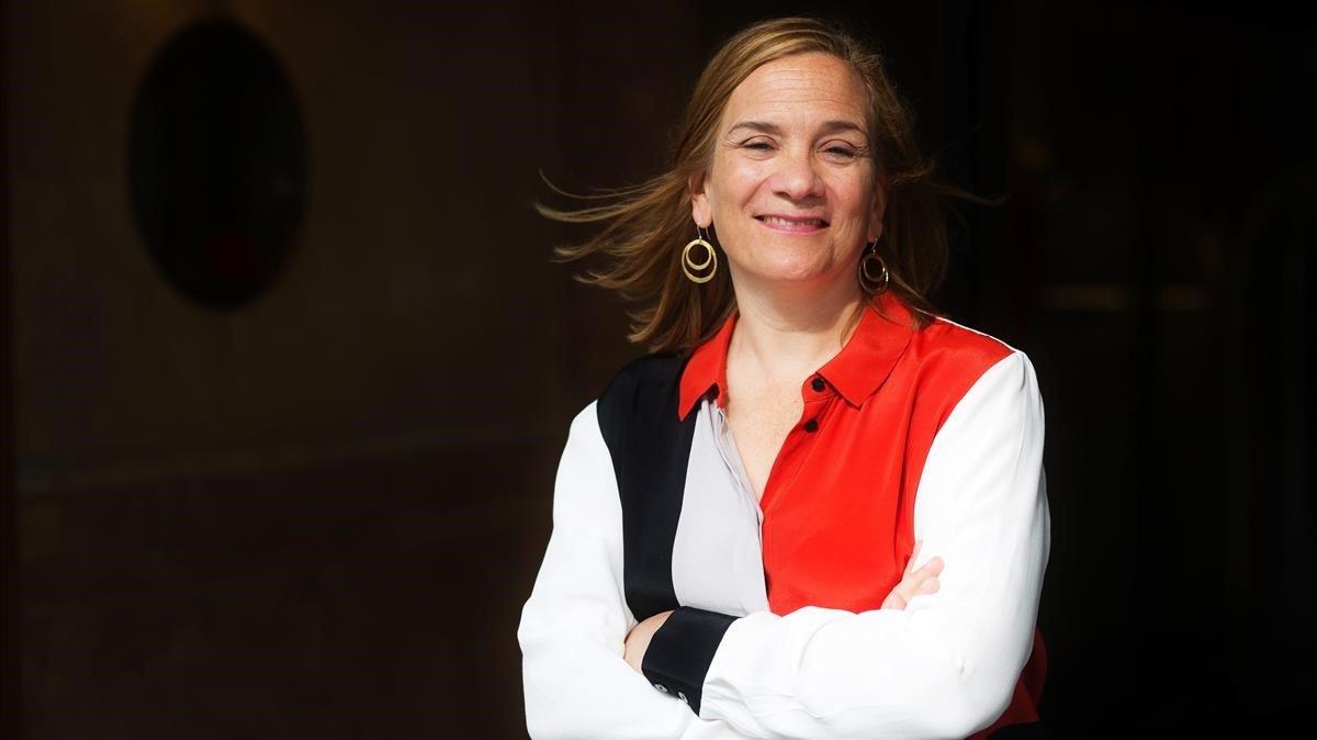 La escritora Tracy Chevalier, en su última visita a Barcelona.