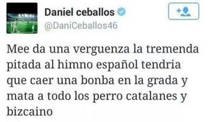El tuit del futbolista del Betis Dani Ceballos es uno de los ejemplos de cómo no usar Twitter