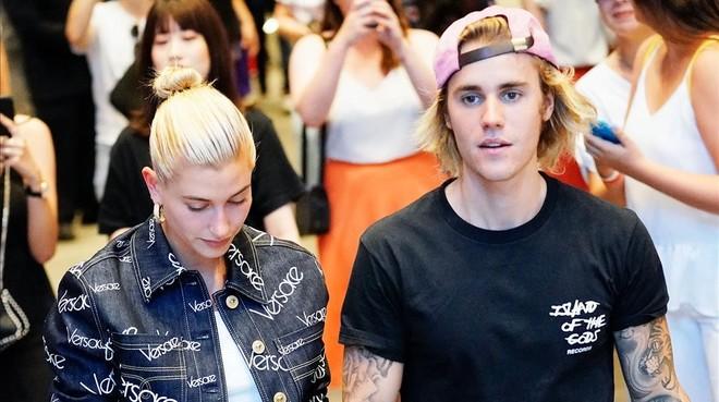 Justin Bieber y Hayley Baldwin en Nueva York el pasado 5 de julio.