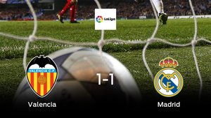 El Valencia y el Real Madrid empatan y suman un punto a su casillero (1-1)