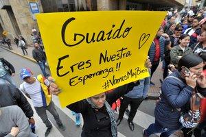 Guaidó llegó el domingo a Bogotá para participar en la cumbre del Grupo de Lima.