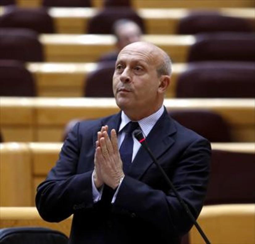 Wert, en una sesión de control en el Senado en marzo del 2015, cuando aún era ministro de Educación.