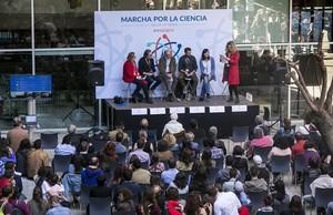 Acto de la Marcha por la Ciencia en Barcelona, este sábado.