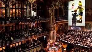 Aspecto delPalau de la Músicaenel estreno europeo de 'Considering Matthew Shepard'.