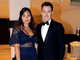 Louis Ducruet y su novia, Marie Chevallier, en una gala del principado.