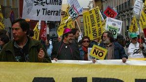 Manifestación contra el cambio climático en Madrid.