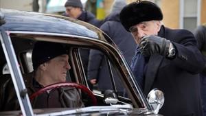 Robert de Niro y Martin Scorsese, durante el rodaje de la película de Netflix'The Irishman'.