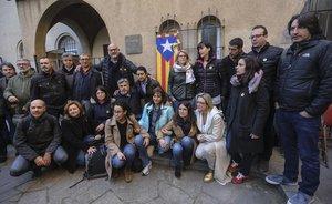 Los participantes en el ayuno en solidaridad por los presos en huelga de hambre.