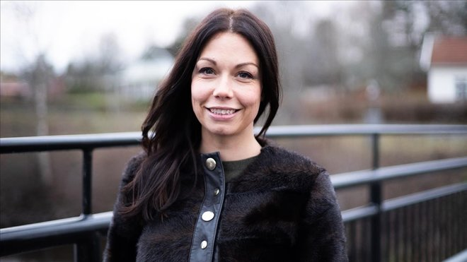 Lina Bengsdtotter, en su pueblo natal, Gullspang, donde ambienta Annabelle.