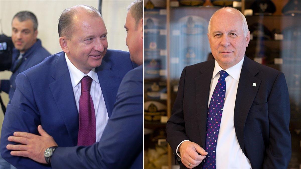 Vladímir Artyakov y Sergey Chemezov.