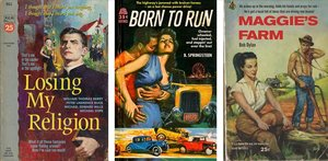 'Losing my religion', 'Born to run' y 'Maggie's farm', tres falsas portadas de Todd Alcott.