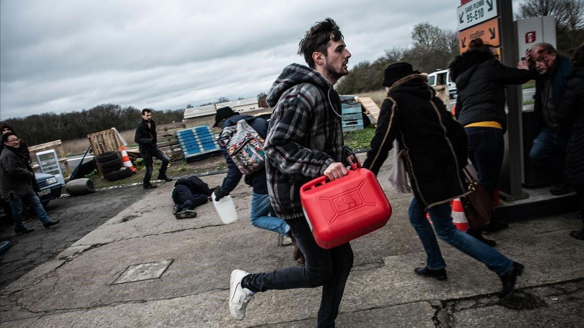 Una imagen de 'El colapso', la serie del colectivo Les Parasites.