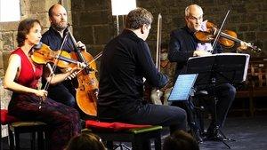 El Quartet Casalsen la clausura de la Schubertiada de Vilabertran.