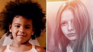 Blue Ivy y Apple, en recientes fotos publicadas por sus madres en sus perfiles sociales.