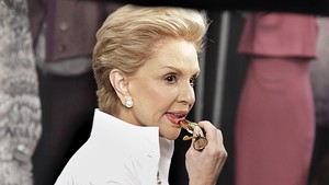 lmmarco18312867 fashion designer carolina herrera adds lipstick backstage as170830165200