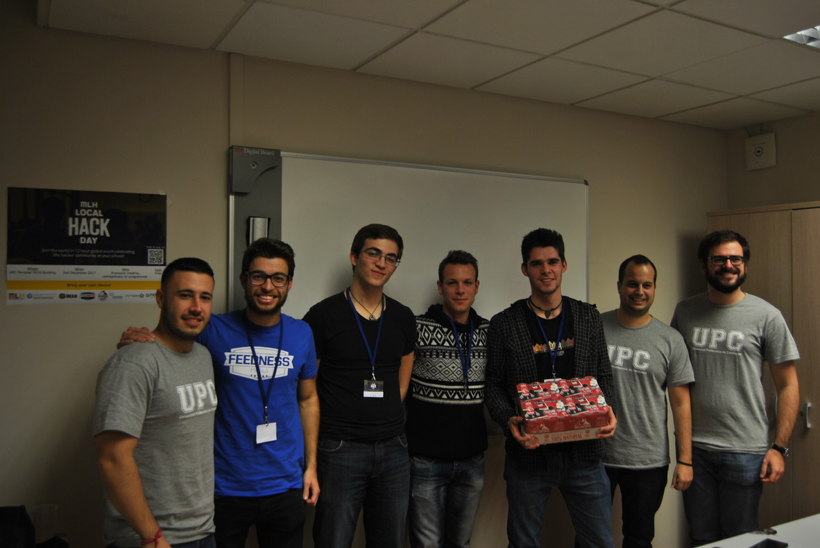 Net Disruptors y Lynx ganan el hackaton de la Escola Superior d¿Enginyeries Industrial, Aeroespacial y Audiovisual de Terrassa.