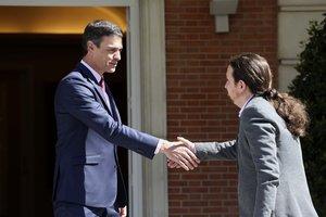 Iglesias aplaudeix la voluntat de Sánchez per arribar a un pacte d'investidura