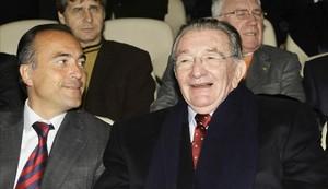 Agustí Montal (derecha), al lado de Rafael Yuste.
