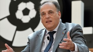 """Tebas: """"Per desgràcia, veig possible una Lliga sense el Barça i l'Espanyol"""""""