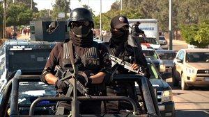 Policías méxicanos.