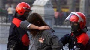 Ertxaina en una manifestación en Bilbao.