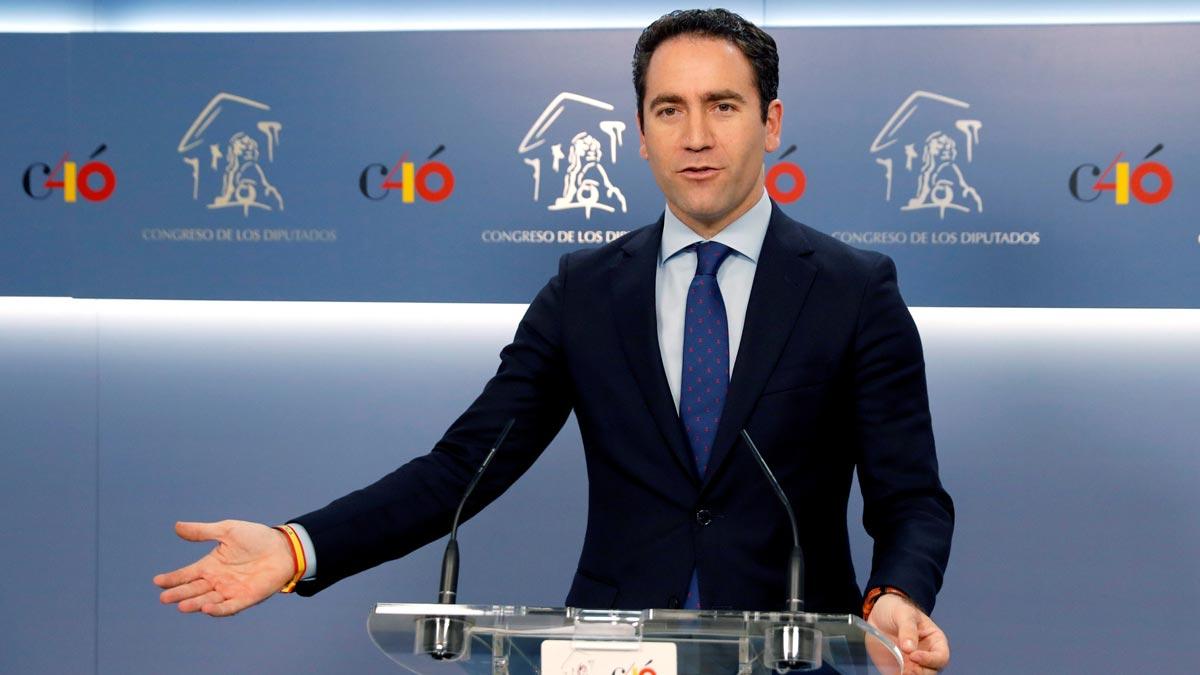Teodoro García Egea ha asegurado que su partido 'no solo no va a facilitar la investidura de Pedro Sánchez, sino que la va a dificultar', con lo que ha vuelto a descartar de manera categórica que pueda haber algún cambio de postura de los populares y abstenerse.