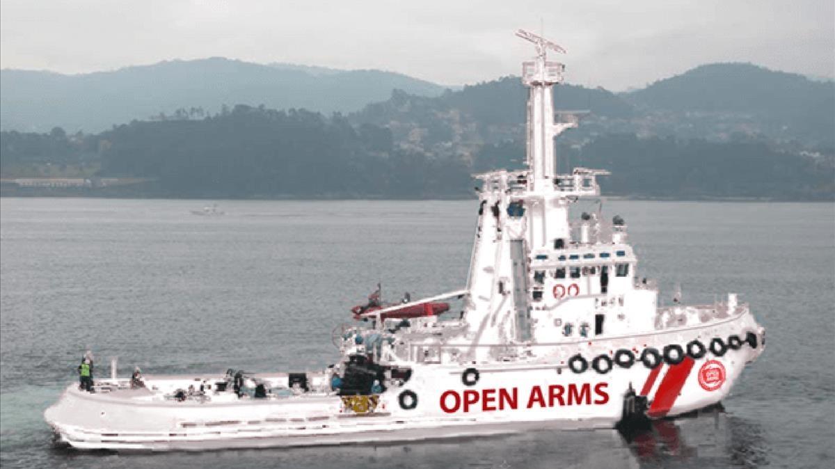Barco de la oenegé catalana Proactiva Open Arms.
