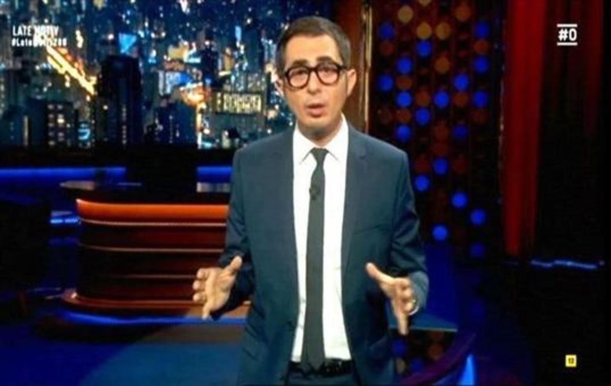 Berto, humorista avergonzado, en 'Late motiv' (canal #0 de Movistar+).