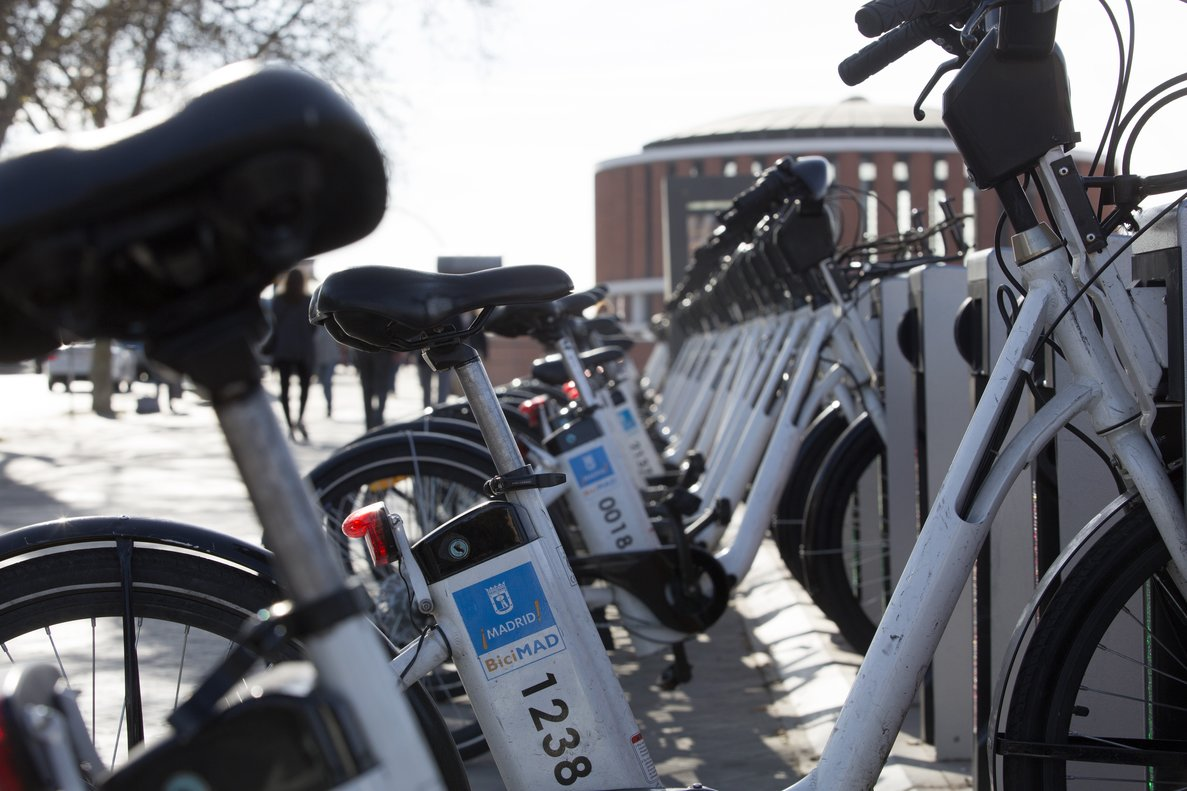 El servicio municipal de bicicletas BiciMad.