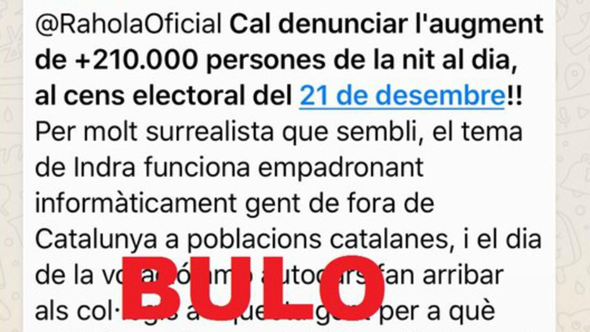La fals rumor de l'augment sobtat del cens electoral