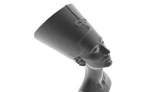 El busto de Nefertiti digitalizado y listo para imprimir en 3D.
