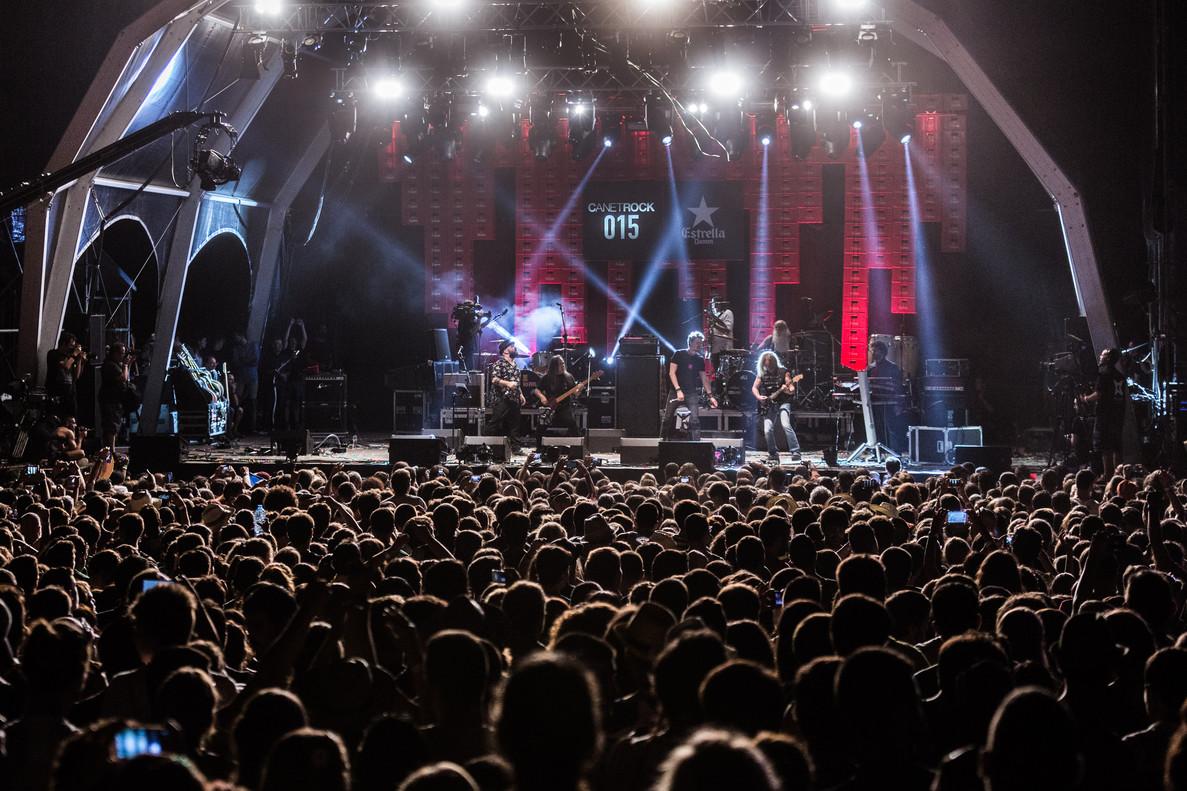 Imagen de un concierto del Canet Rock 2015.
