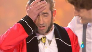 La cara de El Tekila al saberse ganadora de la final de Got Talent.