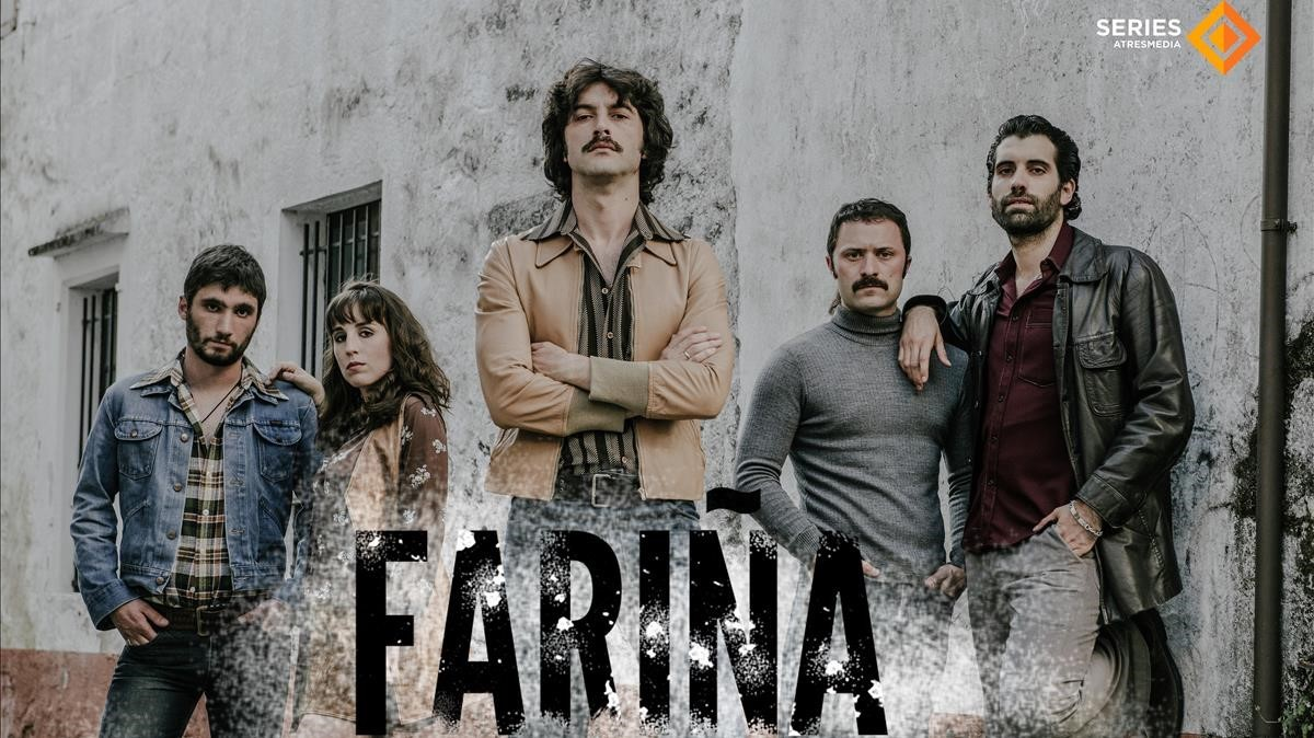 Cartel promocional de la serie de Antena 3Fariña.