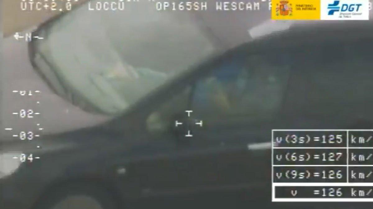 Captura del vídeo difundido por la DGT.