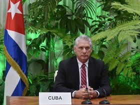 Miguel Díaz-Canel, presidente de Cuba.