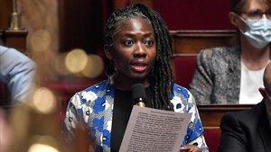 La diputada de La Francia Insumisa Danièle Obono, en la Asamblea Nacional.