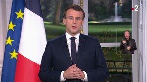 El discurso de Fin de Año de Emmanuel Macron, en la televisión francesa.