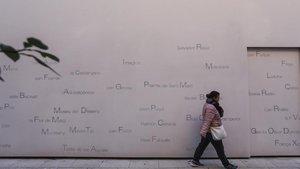 La història del Poblenou, en una paret