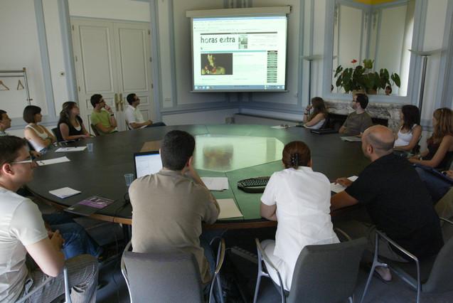 Sesión del máster en Periodismo Digital y Dirección de Proyectos de Comunicación Digital UOC-El Periódico-Lavinia