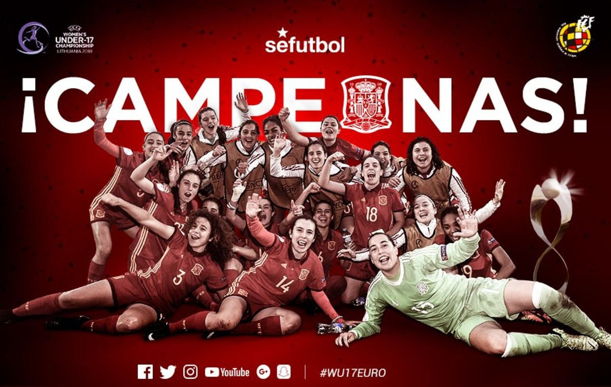 España sub 17, campeona de Europa