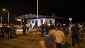 Ataque con explosivos a una estación de policía en Gaza.