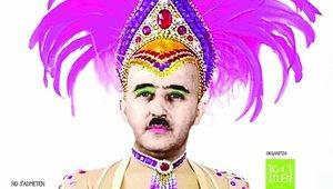 """Franco, en un cartel de Carnaval de Barcelona: """"No estaba muerto estaba de parranda"""""""