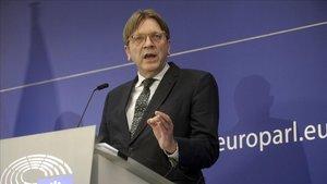 El líder de los liberales europeos (ALDE),Guy Verhofstadt