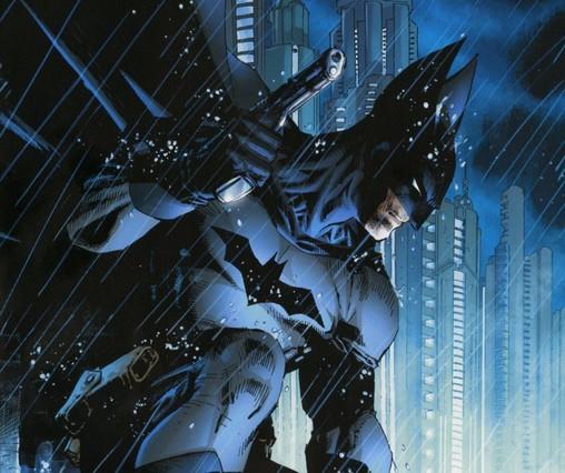 Imagen de Batman, dibujada por Jim Lee, publicada en el volumen del 75º aniversario del hombre murciélago, publicado por ECC Ediciones.