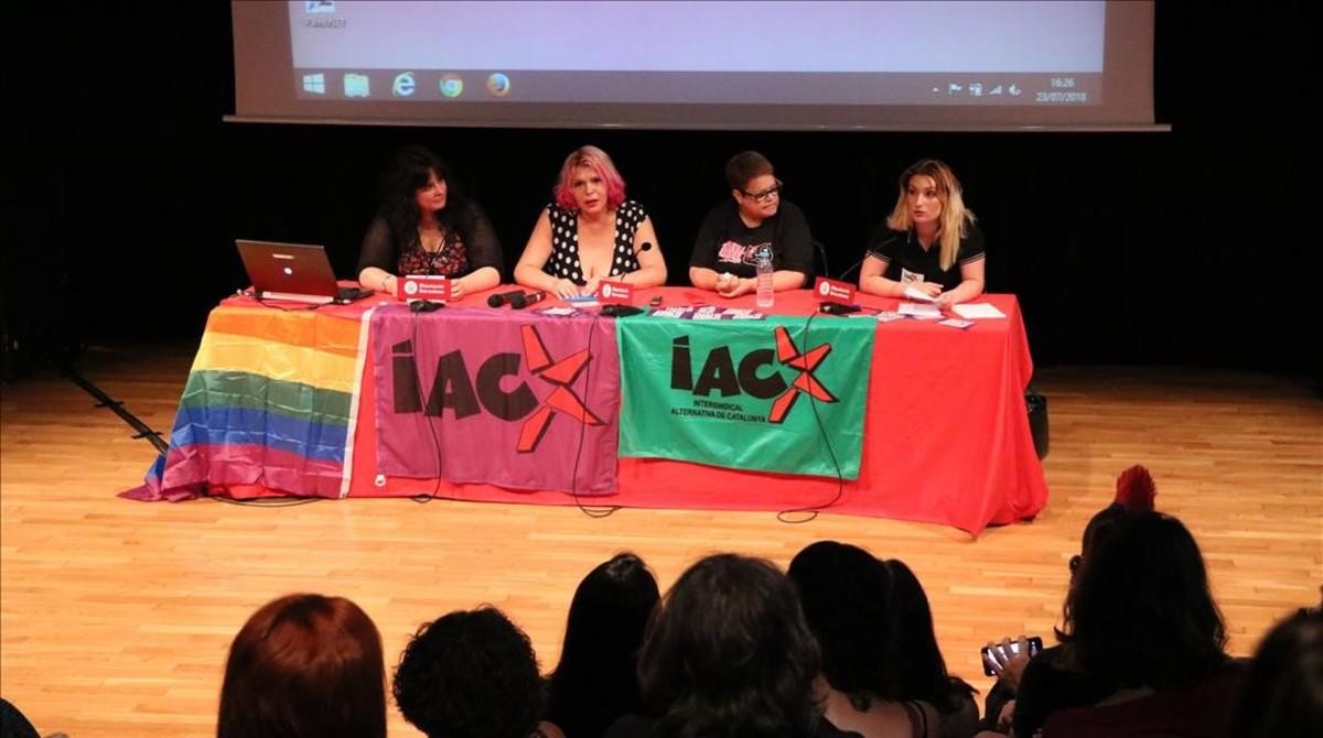 Imagen de la presentación de la Sección Sindical de la IAcCde las trabajdoras sexuales.