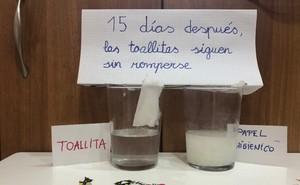Imágenes del experimento compartidas en redes sociales.