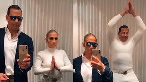 Jennifer Lopez y su prometido, Álex Rodríguez, bailando 'Flip the Switch'.