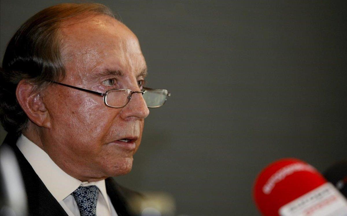 José María Ruiz-Mateos, en rueda de prensa.